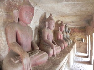 Buddha images...on and on...in Hpo Win Daung caves
