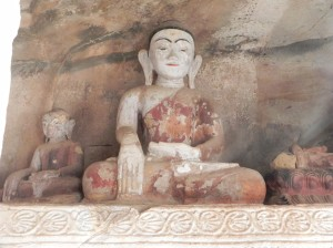 Buddha in Hpo Win Daung caves