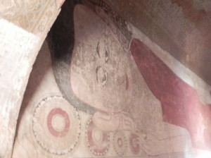 Wall paintings in Sulamani Temple