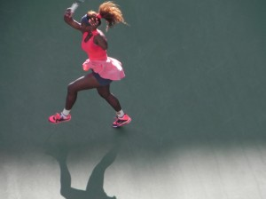 Serena turning on the power