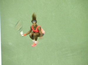 Serena celebrating her victory