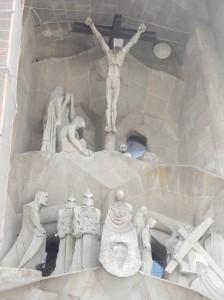 La Sagrada Familia, Passion Façade, Crucifixion