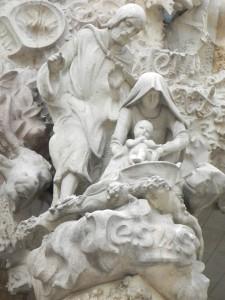 La Sagrada Familia, Nativity Façade, Birth of Jesus