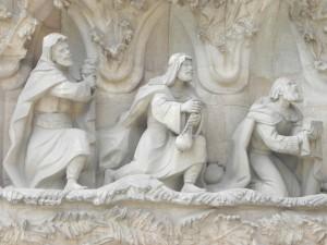 La Sagrada Familia, Nativity Façade, 3 wise men
