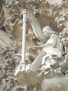 La Sagrada Familia, Nativity Façade, Angel