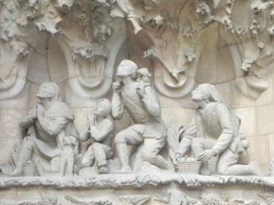 La Sagrada Familia, Nativity Façade, Shepherds