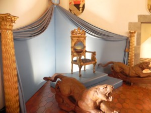 "Pubol Castle - ""Queen"" Gala's Throne Room"