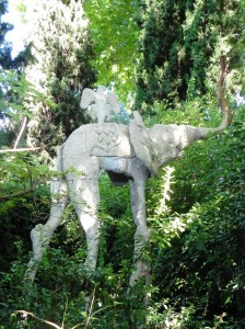 Pubol Castle - one of several elephant sculptures in garden