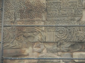Carvings on Dhamekha Stupa, Sarnath
