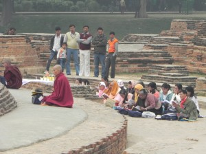 Buddhist Pilgrims at Sarnath