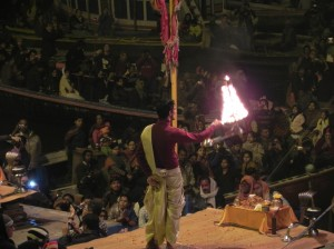 Circling of Multi-Tiered Lamps, Aarti, Varanasi