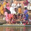 Women Pilgrims making Offerings to Mother Ganges, Varanasi
