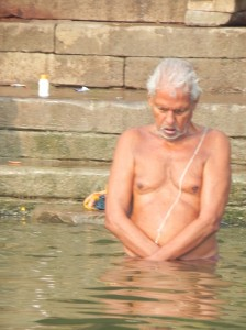 Praying to Mother Ganges, Varanasi
