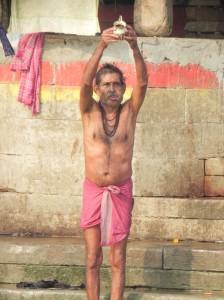 Offering Prayer to Mother Ganges, Varanasi