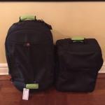 New bag next to larger Victorinox bag