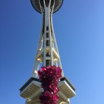 Seattle Space Needle from Chihuly Garden and Glass Museum