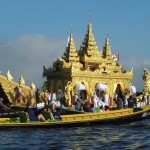 Barge used to move Buddha Images during Inle Lake Festival, Myanmar